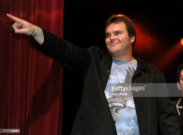 Jack Black attends Initiative Rocks benefit concert presented by Initiative and Myspace for Friends of the Family at El Rey Theatre on March 29 2011...