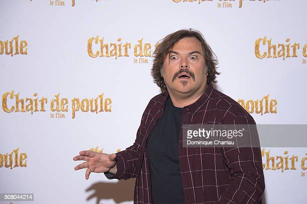 Jack Black attends the Goosebumps Paris Photocall at Hotel Bristol on February 2 2016 in Paris France