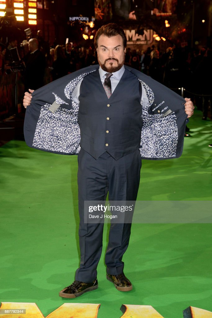 Jack Black attends the 'Jumanji: Welcome To The Jungle' UK premiere held at Vue West End on December 7, 2017 in London, England.