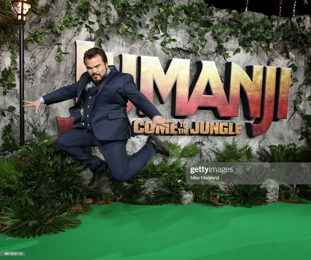 Jack Black attends the 'Jumanji: Welcome To The Jungle UK premiere held at Vue West End on December 7, 2017 in London, England.