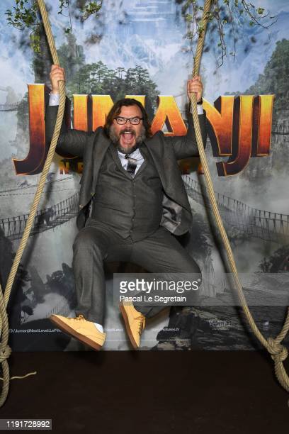 Jack Black attends the photocall of Jumanji Next Level film at le Grand Rex on December 03 2019 in Paris France