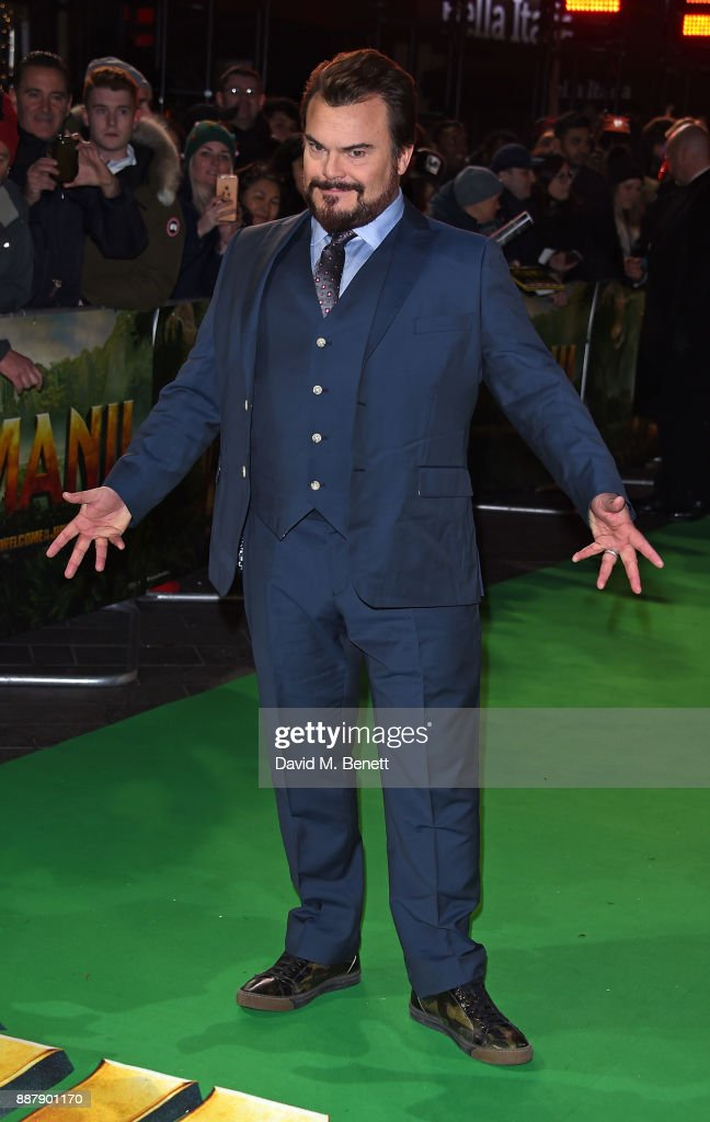Jack Black attends the UK Premiere of 'Jumanji: Welcome To The Jungle' at Vue West End on December 7, 2017 in London, England.