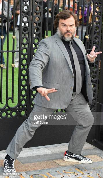 Jack Black attends the World Premiere of The House With The Clock In Its Walls at Westfield White City on September 05 2018 in London England