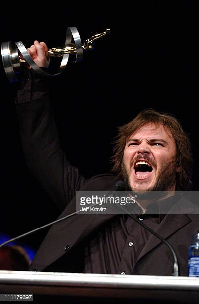 Jack Black during 2004 ShoWest Awards Night Backstage and Show at Bally's Paris Hotel in Las Vegas Nevada United States