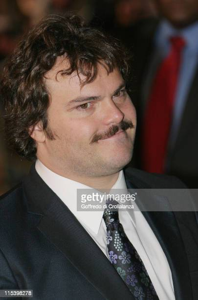 Jack Black during 'King Kong' London Premiere Arrivals at Odeon Leicester Square in London Great Britain