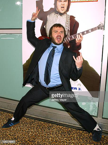 Jack Black during 'School of Rock' Premiere Arrivals at Cinerama Dome in Hollywood California United States