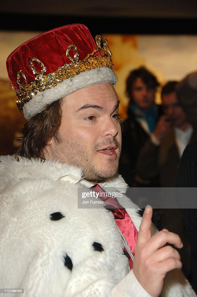 Jack Black during 'Tenacious D in the Pick of Destiny' World Premiere - Foyer at Vue West End in London, Great Britain.