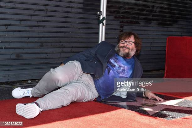 Jack Black is honored with star on the Hollywood Walk of Fame on September 18 2018 in Hollywood California