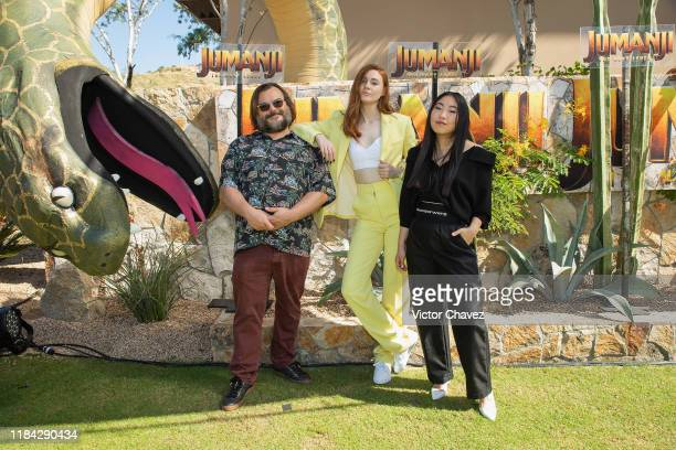 "Jack Black, Karen Gillan, and Awkwafina attend the international junket of ""Jumanji: The Next Level"" at Montage Los Cabos on November 23, 2019 in..."