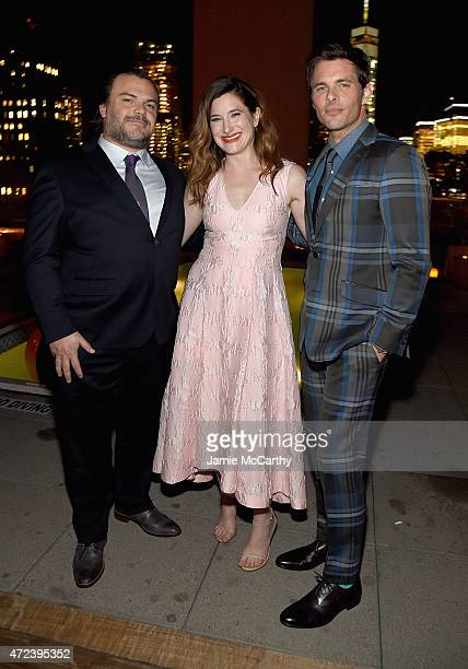 Jack Black Kathryn Hahn and James Marsden attend the The Cinema Society Banana Boat Host The New York Premiere Of IFC Films' The D Train after party...