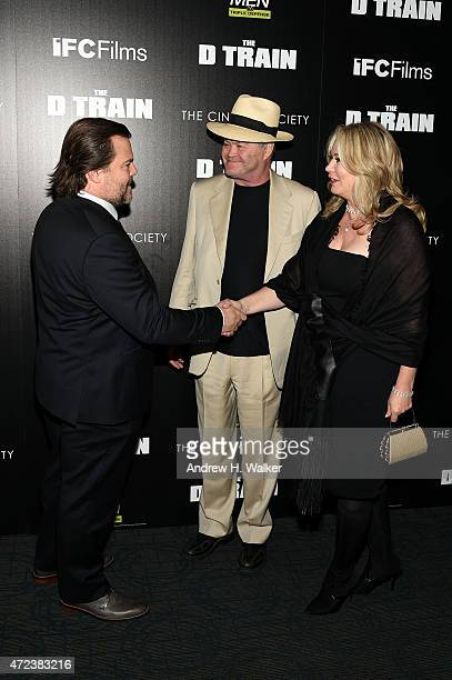 Jack Black Micky Dolenz and Donna Quinter attend IFC's The D Train New York premiere hosted by The Cinema Society and Banana Boat at Sunshine...