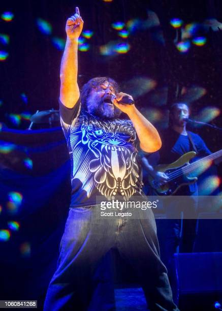 Jack Black of Tenacious D perfoms during the Post Apocalypto Tour at The Fillmore on November 12 2018 in Detroit Michigan