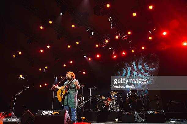 Jack Black of Tenacious D performs on the Orange stage during Roskilde Festival 2016 on June 30, 2016 in Roskilde, Denmark.