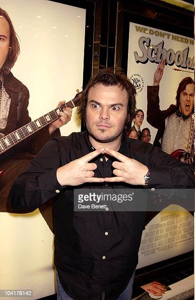 Jack Black School Of Rock Movie Premiere At The Empire Leicester Square And Party At Victoria House