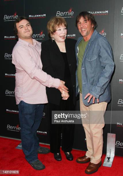 Jack Black Shirley MacLaine and Richard Linklater attend the Bernie Los Angeles premiere at the ArcLight Cinemas on April 18 2012 in Hollywood...
