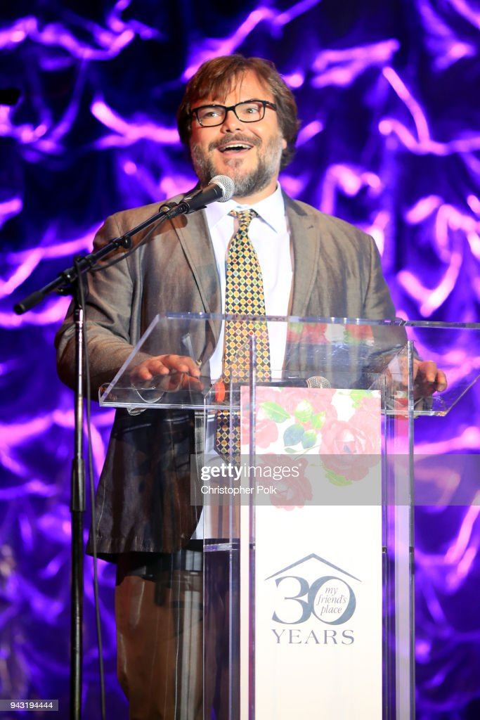 Jack Black speaks onstage at My Friend's Place 30th Anniversary Gala at Hollywood Palladium on April 7, 2018 in Los Angeles, California.