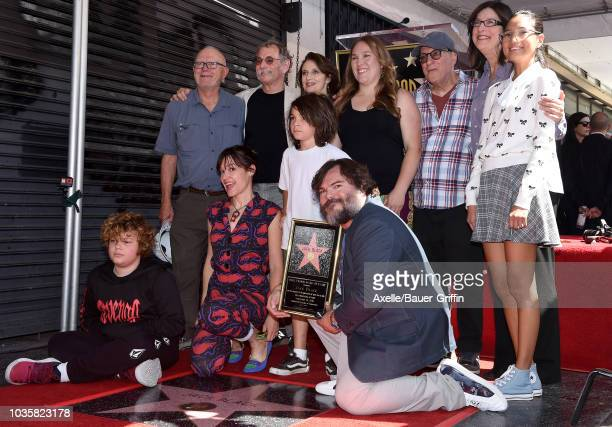 Jack Black wife Tanya Haden and family attend the ceremony honoring Jack Black with star on the Hollywood Walk of Fame on September 18 2018 in...
