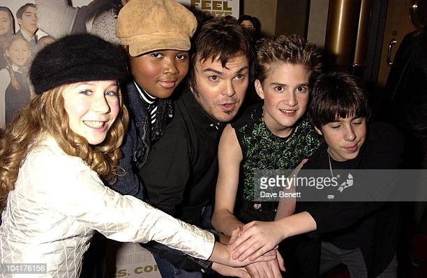 Jack Black With The Kids Caitlin Hale Maryam Hassan Joey Gaydos Kevin Clark School Of Rock Movie Premiere At The Empire Leicester Square And Party At...