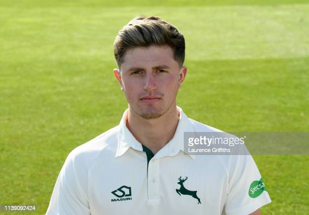 Jack Blatherwick of Nottinghamshire County Cricket Club poses for a portrait during the Nottinghamshire CCC Photocall at Trent Bridge on March 29...