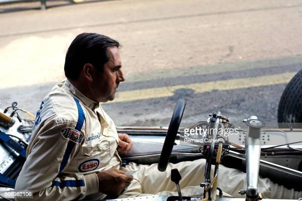 Jack Brabham BrabhamFord BT33 Grand Prix of Austria Osterreichring 16 August 1970 A very unhappy Jack Brabham after his BrabhamFord BT33 ran out of...