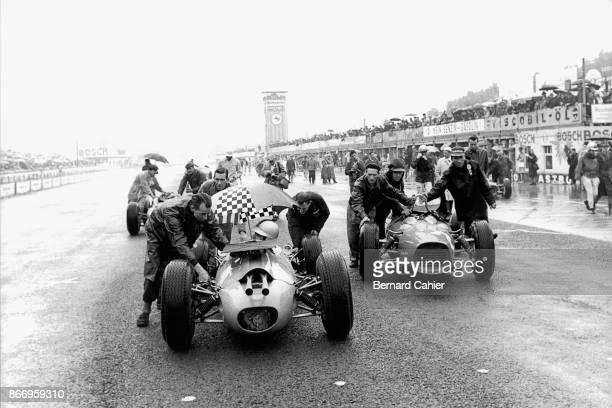 Jack Brabham Giancarlo Baghetti BrabhamClimax BT3 Ferrari 156 Grand Prix of Germany Nurburgring 05 August 1962