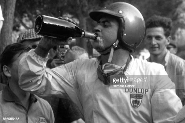 Jack Brabham Grand Prix of Monaco Circuit de Monaco 10 May 1959 Jack Brabham celebrating his first Grand Prix victory in the 1959 Grand Prix of Monaco