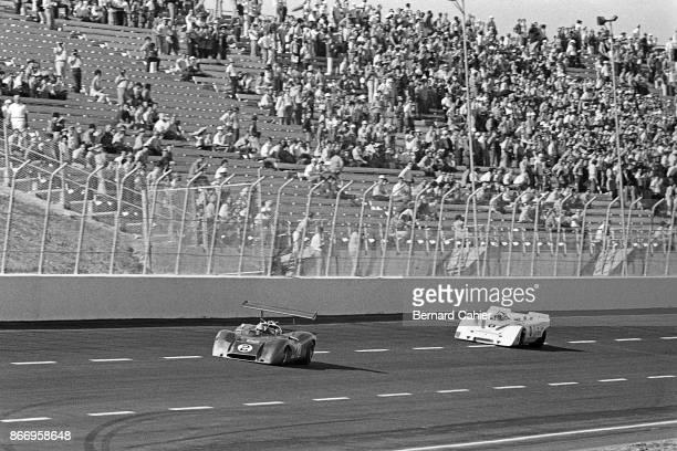 Jack Brabham, Jo Siffert, Open Sports Ford, Porsche 917 PA, Can-Am Texas, Texas World Speedway, College Station, Texas, 11 September 1969.