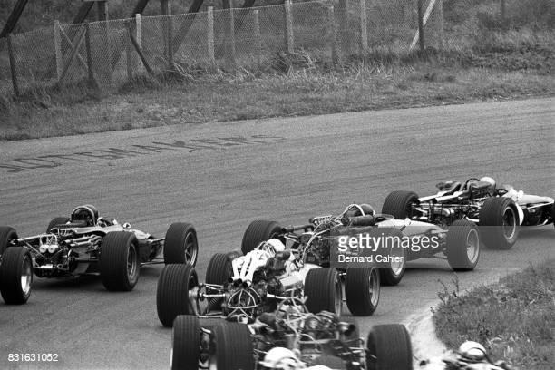 Jack Brabham Jochen Rindt Dan Gurney John Surtees BrabhaRepco BT19 CooperMaserati T81 EagleWeslake T1G Honda RA273 Grand Prix of Netherlands...