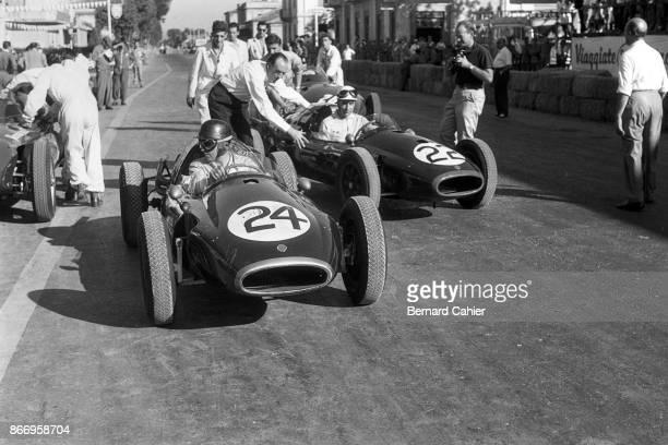 Jack Brabham Roy Salvadori CooperClimax T43 Grand Prix of Pescara Pescara Circuit 18 August 1957