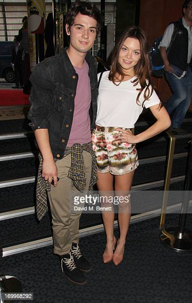 Jack Brett and Scarlett Bryne attend the UK Premiere of 'Come As You Are' at The Curzon Mayfair on June 5 2013 in London England
