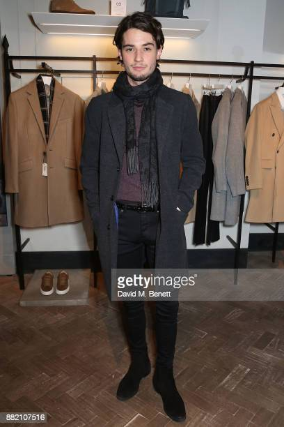 Jack Brett Anderson and Courtney PhillipÊattend the launch of the Hardy Amies x VOLPE VIP collaboration at Hardy Amies Savile Row on November 29 2017...