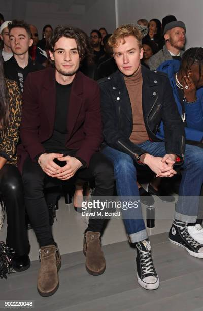 Jack Brett Anderson and Fletcher Cowan attend the Christopher Raeburn show during London Fashion Week Men's January 2018 at BFC Show Space on January...