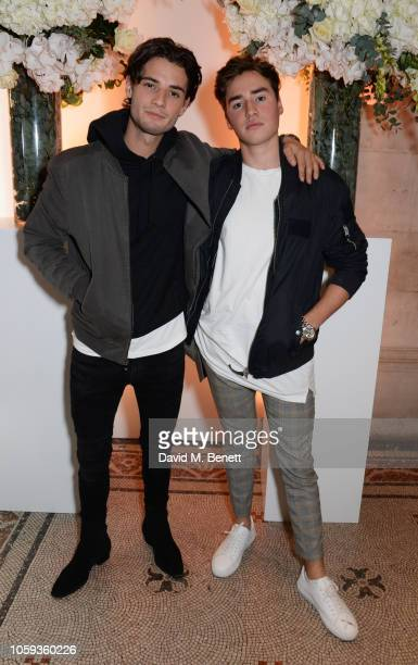 Jack Brett Anderson and guest attend a party celebrating Edward Enninful's one year anniversary as EditorinChief of British Vogue at The National...