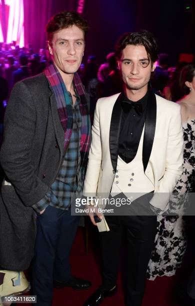 Jack Brett Anderson and guest attend The 64th Evening Standard Theatre Awards after party at the Theatre Royal Drury Lane on November 18 2018 in...