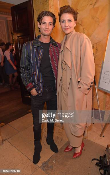 Jack Brett Anderson and Maggie Gyllenhaal attend the launch of Autograph Collection Hotels' Behind The Scenes speaker series featuring Maggie...