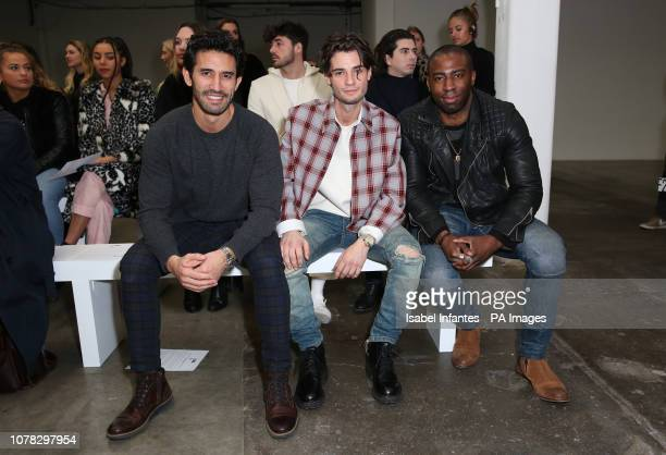 Jack Brett Anderson and Mark Ebulue on the front row during the PRIVATE POLICY presented by GQ at London Fashion Week Mens AW19 show held at BFC Show...
