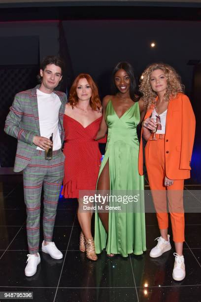 Jack Brett Anderson Arielle Free AJ Odudu and Becca Dudley attend a gala evening celebrating the brand new Cineworld Leicester Square featuring a...