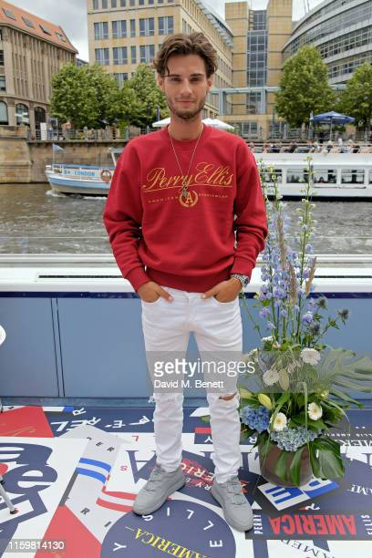 Jack Brett Anderson attends a lunch cruise hosted by Perry Ellis America Creative Director Michael Maccari on the River Spree with friends of the...