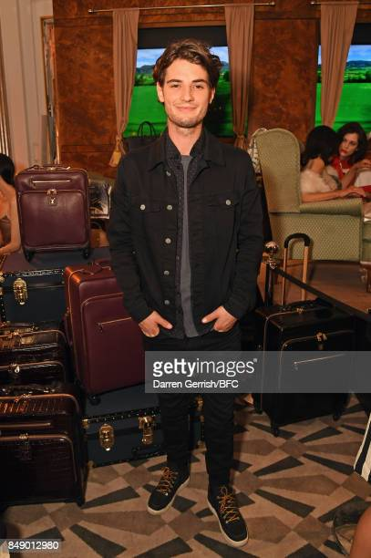 Jack Brett Anderson attends the Aspinal of London presentation during London Fashion Week September 2017 on September 18 2017 in London England