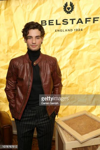 Jack Brett Anderson attends the Belstaff Autumn/Winter 2019 presentation during London Fashion Week Men's January 2019 at Belstaff House on January 7...