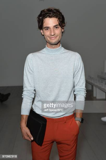 Jack Brett Anderson attends the Christopher Raeburn show during London Fashion Week Men's June 2018 at the BFC Show Space on June 10 2018 in London...