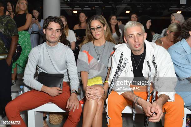 Jack Brett Anderson Erin McNaught and Example attend the Christopher Raeburn show during London Fashion Week Men's June 2018 at the BFC Show Space on...