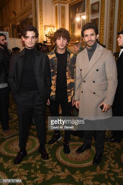 Jack Brett Anderson Eyal Booker and Kirk Newmann attend the Barbour presentation during London Fashion Week Men's January 2019 at Lancaster House on...