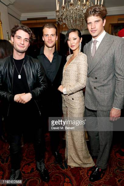 Jack Brett Anderson Miles Bugby Betty Bachz and Toby HuntingtonWhiteley attend the Tom Ford Beauty Beau Du Jour event at Marks Club on January 7 2020...