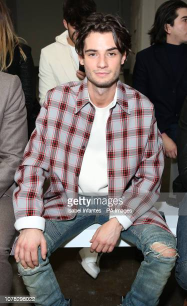 Jack Brett Anderson on the front row during the PRIVATE POLICY presented by GQ at London Fashion Week Mens AW19 show held at BFC Show Space London