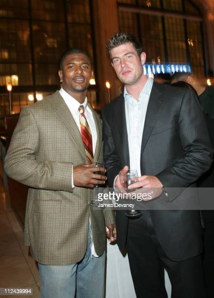 Jack Brewer and Jesse Palmer during St Francis' Big Red Benefit at Gustavino's at Gustavino's in New York City New York United States