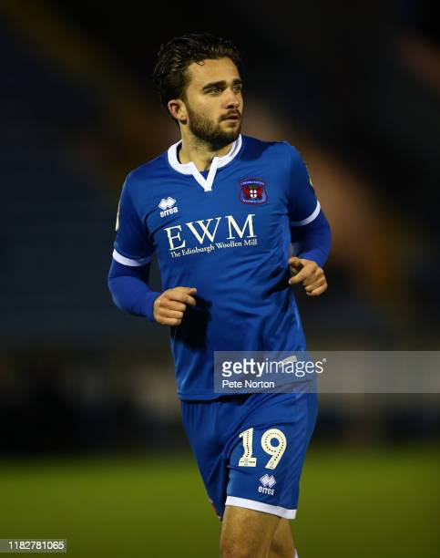 Jack Bridge of Carlisle United in action during the Sky Bet League Two match between Carlisle United and Northampton Town at Brunton Park on October...