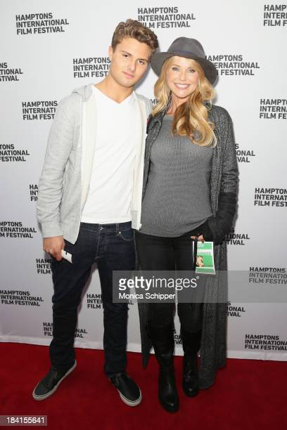 Jack Brinkley Cook and Christie Brinkley attend the 21st Annual Hamptons International Film Festival on October 11 2013 in East Hampton New York
