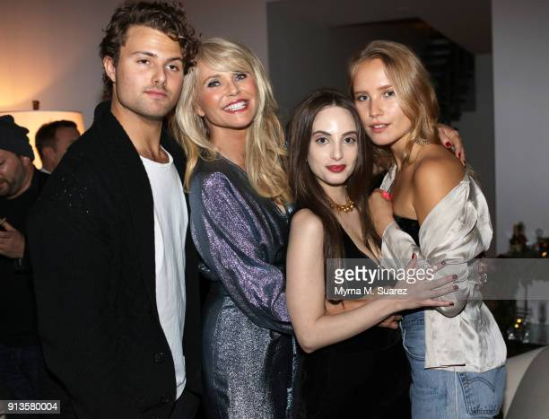 Jack Brinkley Cook Christie Brinkley Alexa Ray Joel and Sailor Brinkley Cook celebrate Christie Brinkley's birthday on February 2 2018 in New York...