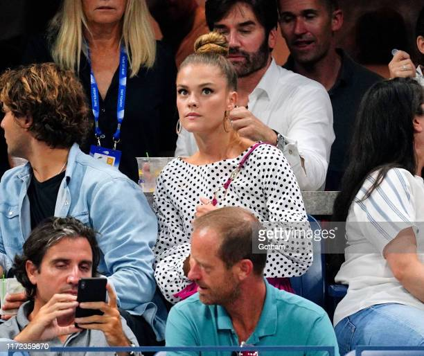 Jack BrinkleyCook and Nina Agdal at the 2019 US Open on September 04 2019 in New York City
